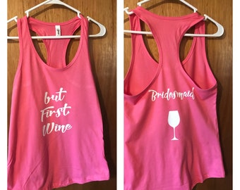 ON SALE Bachelorette party tanks - bride shirt - bachelorette party shirts - custom tank tops - custom t shirts - bridal party shirts - futu