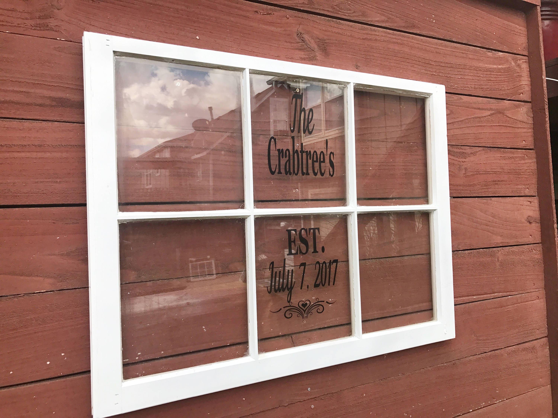 ON SALE wedding picture frame - 6 pane wood window - 6 pane window ...