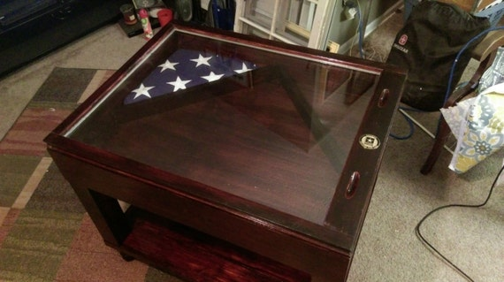 ON SALE Military Table Rustic Coffee Table Shadow Box Etsy - Shadow box coffee table for sale