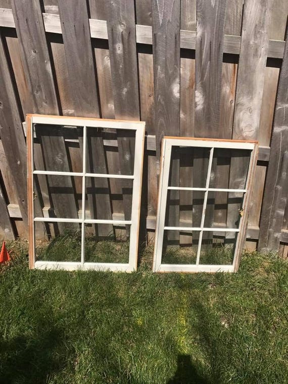 Sale Wood Window Frame Wood Window Pane 6 Pane Wood Etsy