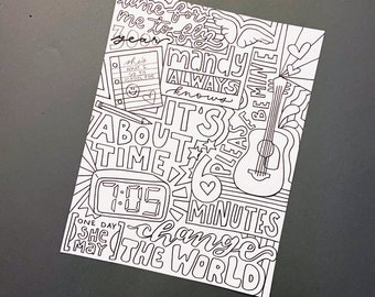 Jonas Brothers Coloring Pages | 270x340