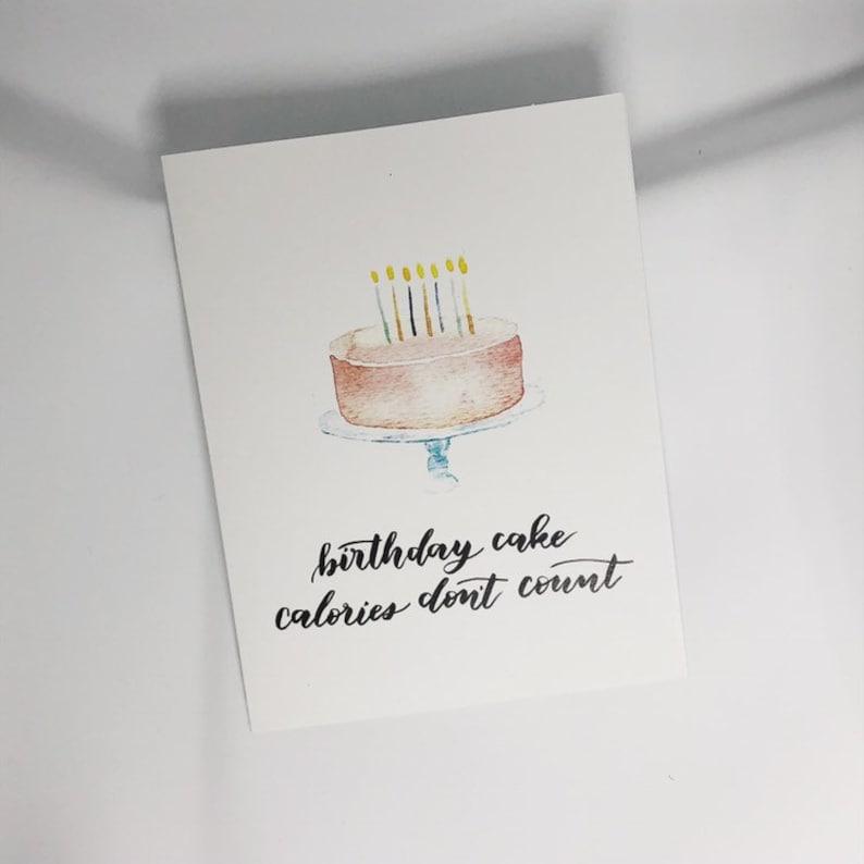 Groovy Birthday Cake Calories Dont Count Etsy Birthday Cards Printable Benkemecafe Filternl