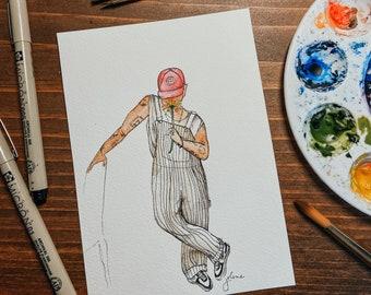 """Joe Jonas 5x7"""" Art Print"""