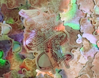 Rose Garden Holographic Stickers