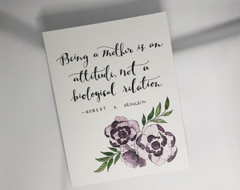 Being a Mother is an Attitude Card