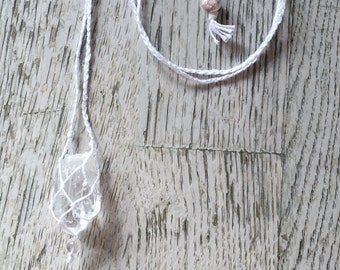CUSTOM-MADE MACRAME Necklace – tailored to your specific energetic, physical or spiritual needs