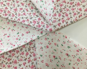 Pink and white fabric bunting floral pattern bunting shabby chic decor 2-3 meters.