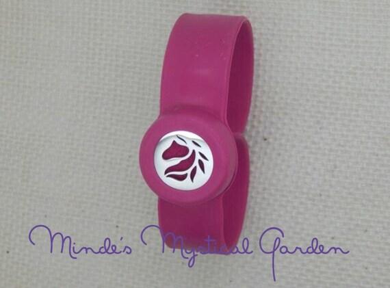 Kids Essential Oil Diffuser Bracelet Hot Pink Horse