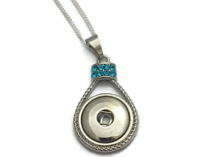 Snap Jewelry, Snap Necklace, Snap Button Necklace, Fits All Ginger Snap Jewelry, Snap Charm Necklace, Snaps Necklace, Fits 18mm Snaps