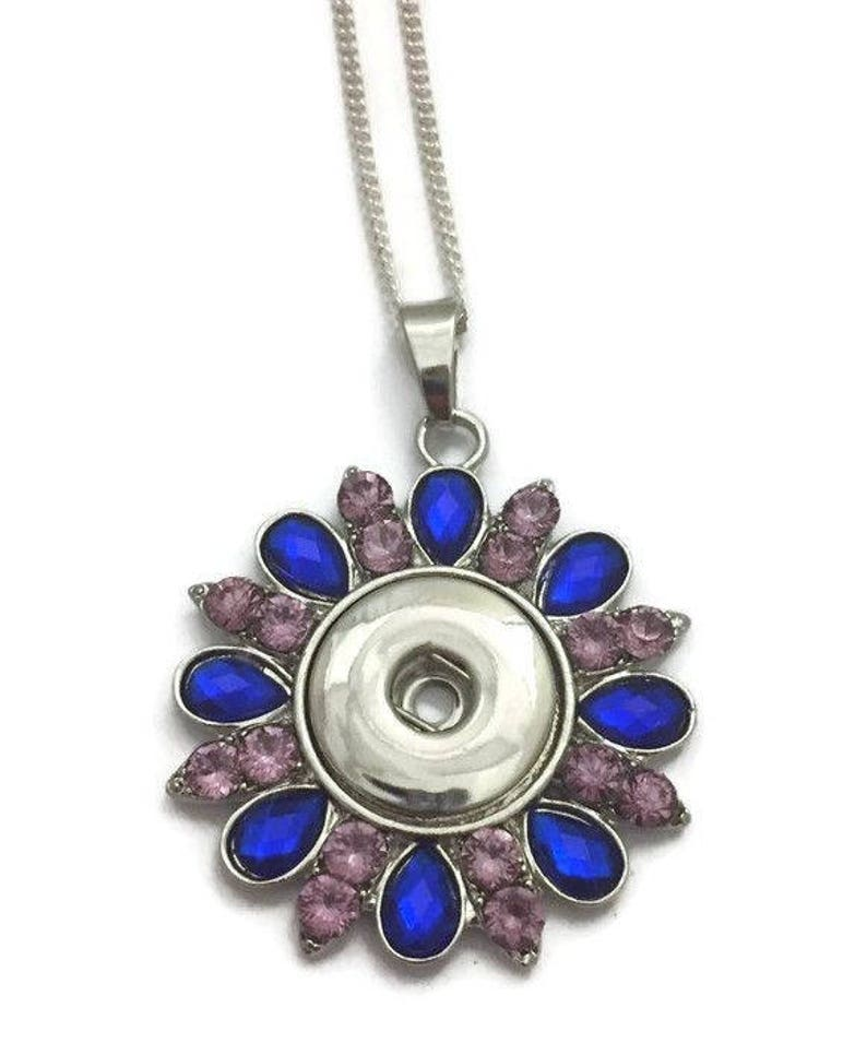 Snap Necklace Snap Jewelry Snap Button Necklace Fits all image 0