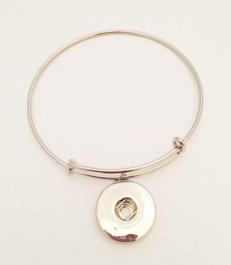 Snap Bangle Bracelet Snap Jewelry Snap Bracelet 18mm Ginger image 0