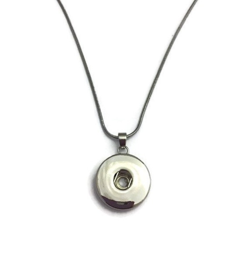 Snap Jewelry Snap Necklace on an 18 inch chain image 0