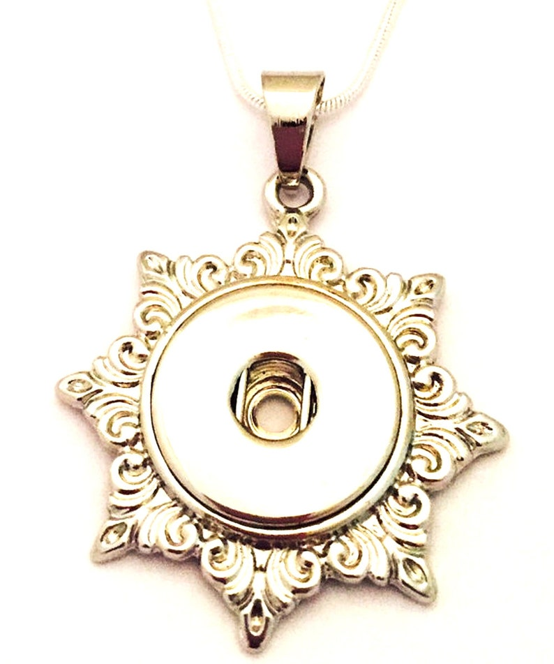 Snap Jewelry Snap Necklace Interchangeable Snap Button image 0