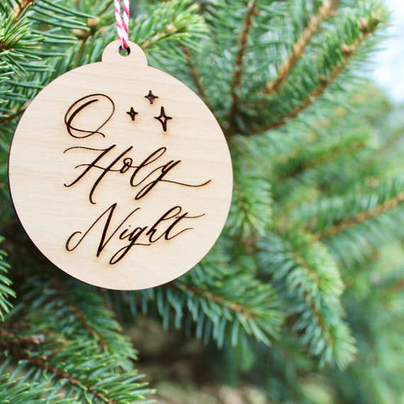 Wooden Christmas Decorations.Wooden Christmas Ornaments Wooden Christmas Ornament Wooden Ornament O Holy Night Christmas Ornament Christmas Gift Wood Ornament
