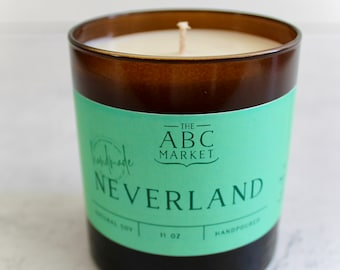 Bookish Inspired Candle, Neverland, Peter Pan Candle, Coconut Candle, Summer Candle, Summer Coconut Candle, Tropical Island, Tropical