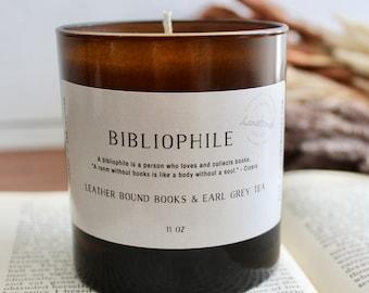Bibliophile Candle, Bibliophile Inspired, Bookish Candle, Bookish Inspired, Book Lover Candle, Book Nerd Candle, Bibliophile, Soy Candle