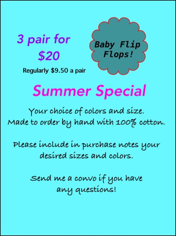 00451eca37a26b Sandy Toes Baby Flip Flops Ready to ship or can be custom