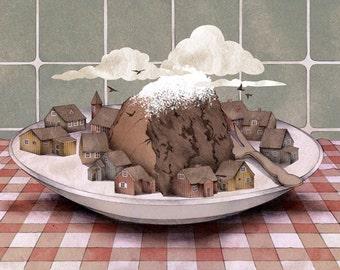 Chocolate Cake Mountain