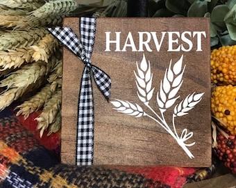 Tiered Tray Fall Decor. Mini Harvest Signs for Trays. Shelf Sitter Wood Sign. Farmhouse Fall Sign. Buffalo Check Tray Decor. Buffalo Plaid