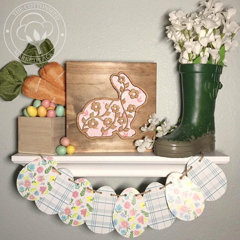 Wooden Easter Bunny Home Decor