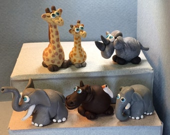 African Mega Fauna, BIG ANIMAL miniatures.  Your choice of one.