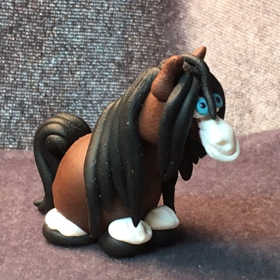 Black RAINBOW Maned Horse Miniatures Your choice of one.