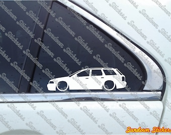 2x Low Car Outline Stickers For Audi A4 B5 S4 Sedan Etsy