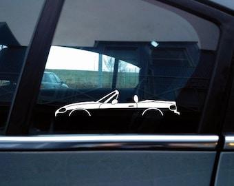 Lowered Mazda Miata  MX5 NA and Custom text Large wall sticker Original A/&T design