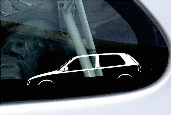 2x Car Silhouette Stickers For Vw Golf Mk3 Gti 16v Vr6 Etsy