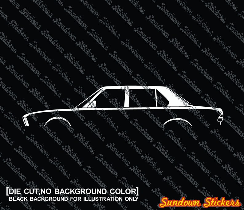 2x Car Silhouette Stickers For Bmw E28 5 Series Vintage Etsy