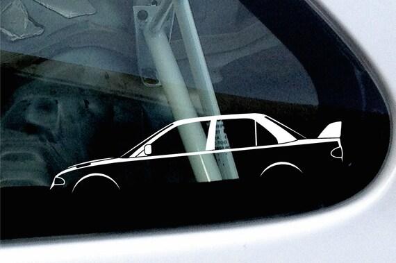 for Mitsubishi lancer Evo 7,8,9 evolution GSR 2x Custom YOUR TEXT car stickers