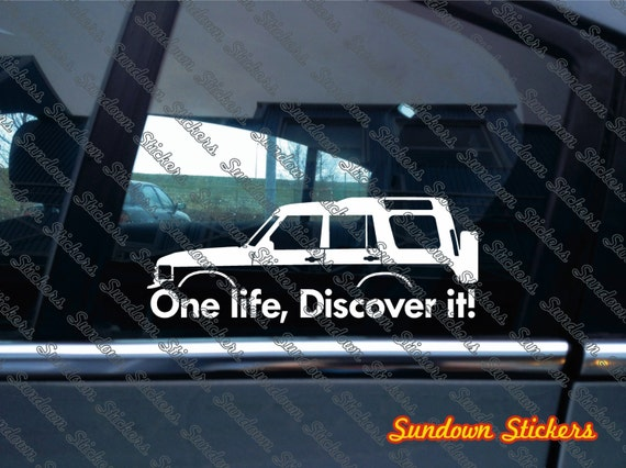 2x One Life Discover It Silhouette Stickers For Land Rover Discoveryclassic