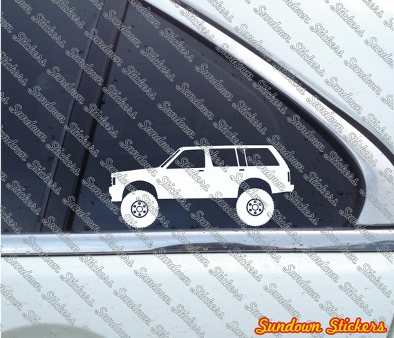 2x lifted 4x4 outline stickers for chevrolet s10 blazer etsy
