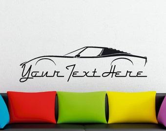 Large Custom car silhouette wall sticker - for Lamborghini Miura