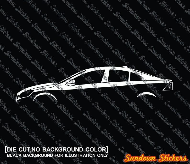 2X car silhouette stickers for Volvo S60 sedan 2010+