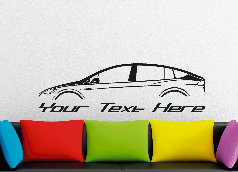 grand custom silhouette mur autocollant de voiture pour etsy. Black Bedroom Furniture Sets. Home Design Ideas