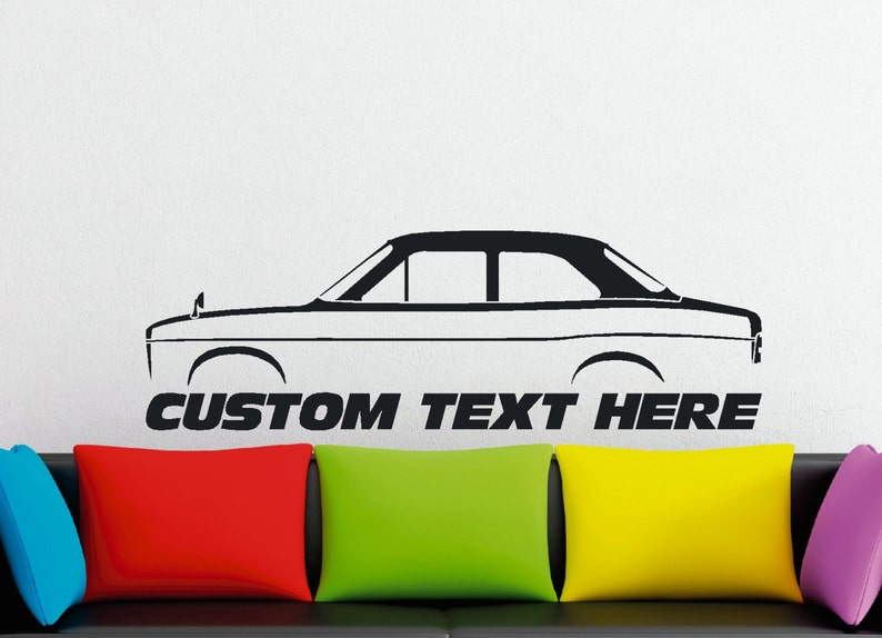 2X Car silhouette stickers for Ford Mustang Cobra II 1975 hatchback
