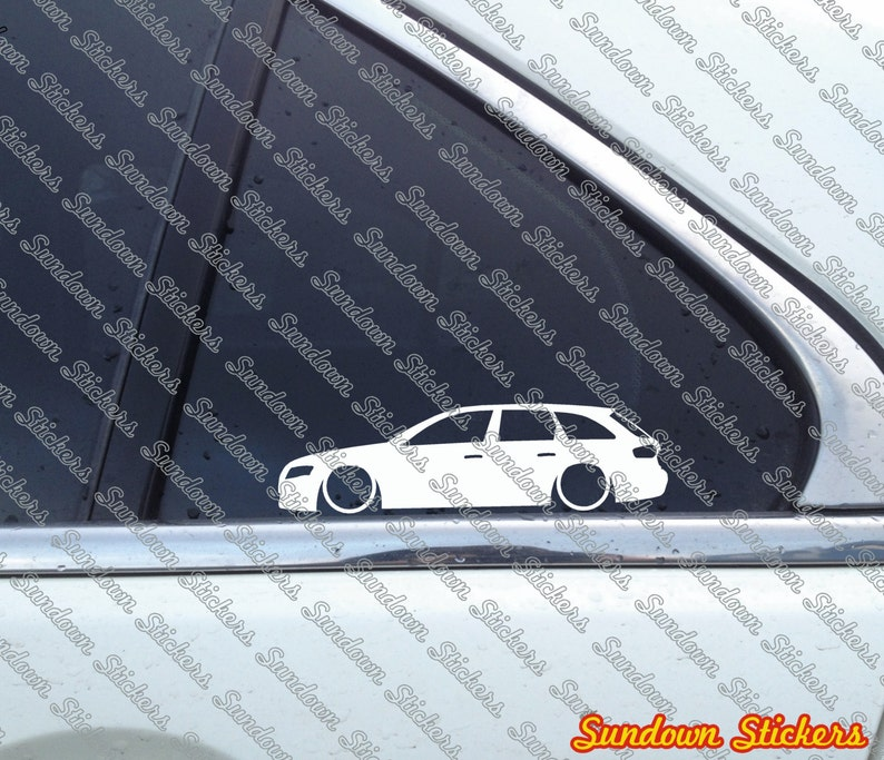 2x Low Car Outline Stickers For Audi A4 B8 Avant Station Wagon