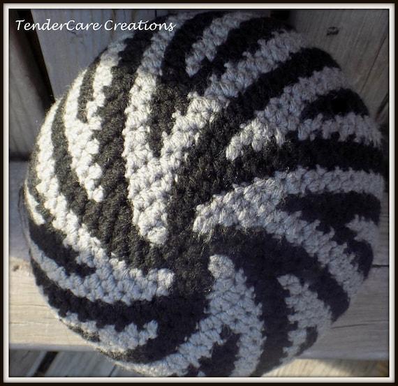 Spiral Crochet Beanie Swirl Beanie Tribal Typhoon Toque  3617561d174