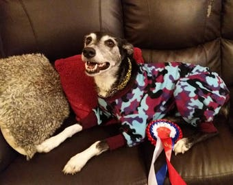 Fleece dog all in one coat