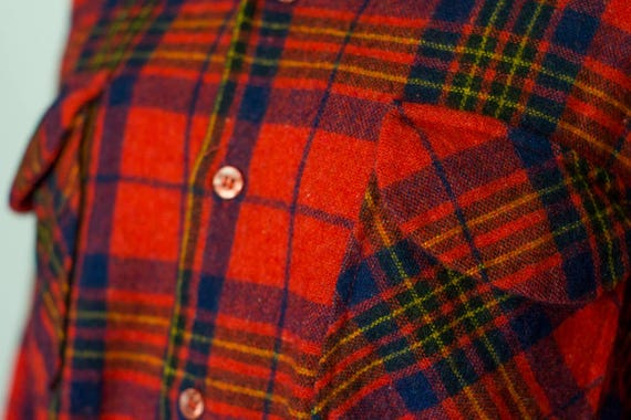 1970's Vintage Wool Flannel / Buffalo Plaid Flanne