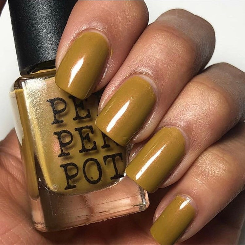 Mustard Yellow Nail Polish 5 Free Bombshell Makeup Bath Beauty image 0
