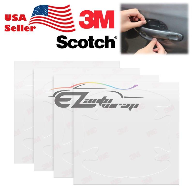 4PCS 3M Scotchguard Clear Door Handle Paint Scratch Protection Film Sticker  Brace