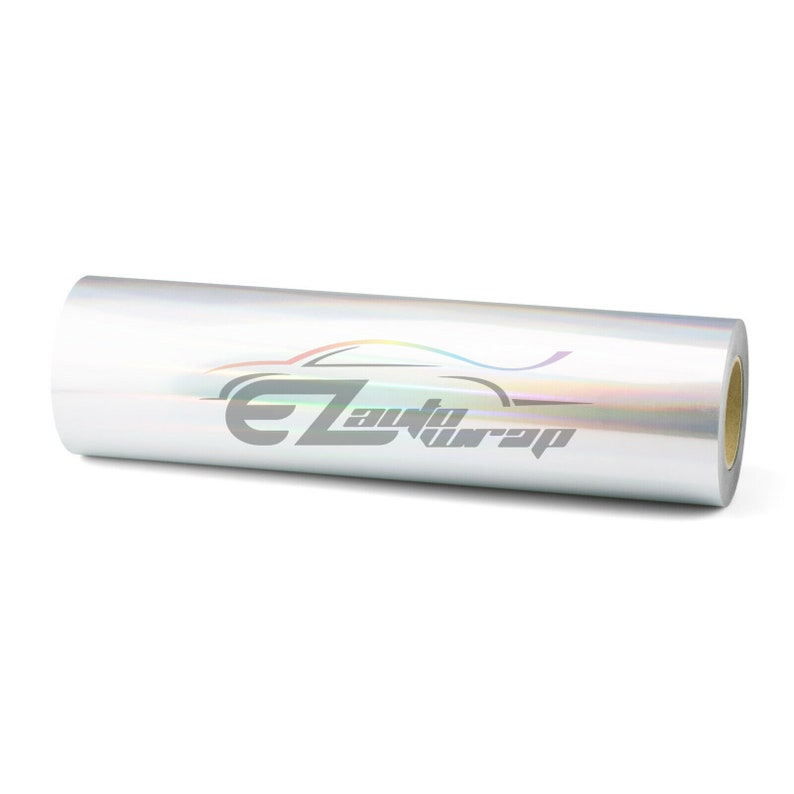 ESSMO\u2122 Holographic Silver SP16 Heat Transfer Vinyl HTV T-Shirt 20 Wide Roll Iron Heat Press