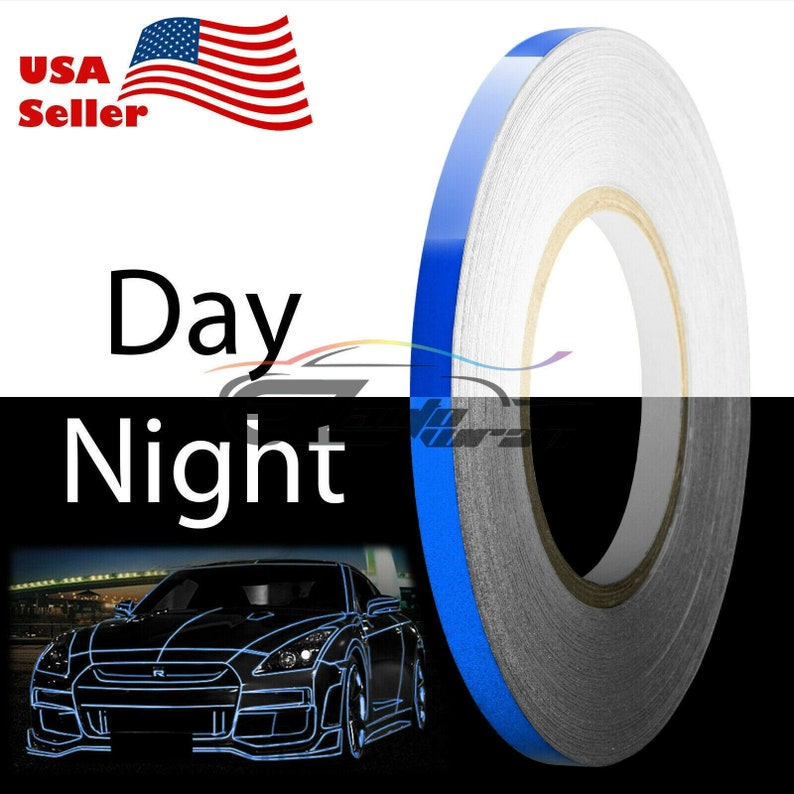 Blue Reflective Tape Safety Self Adhesive Striping Sticker Decal 150FT  Roll 1CM