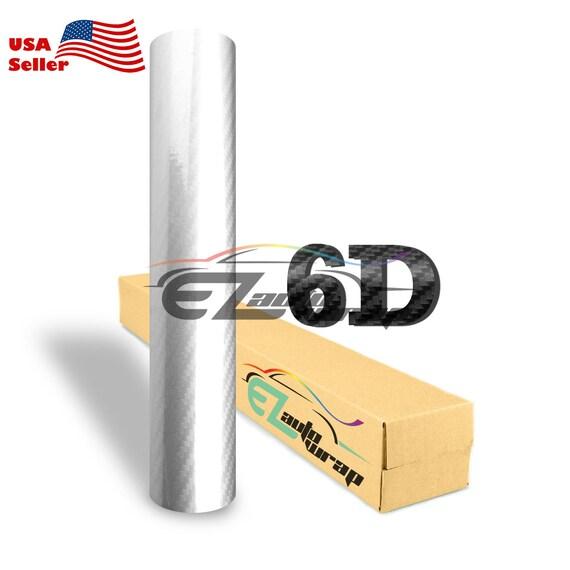 3D Top Grade 5 FT x 5 FT  Gold Carbon Fiber Vinyl Wrap Bubble Free Air Release
