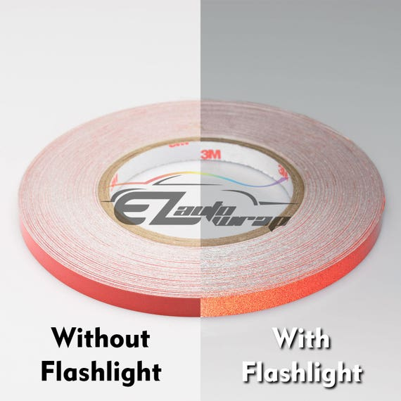 Red Reflective Tape Safety Self Adhesive Striping Sticker 150FT Roll 1Cm