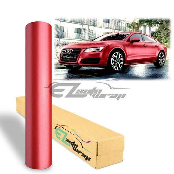 """*48/""""x108/"""" Reflective Red Vinyl Car Wrap Sticker Decal Graphic Sign Adhesive Film"""