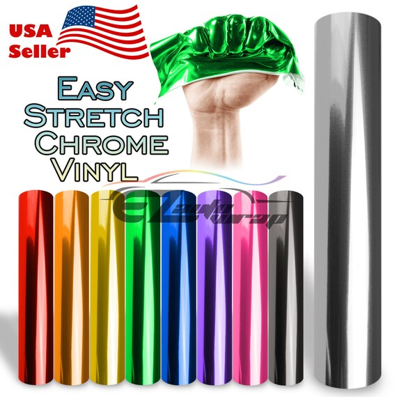*Premium Silver Supercast Chrome Car Vinyl Wrap Sticker Easy Stretch Air Release