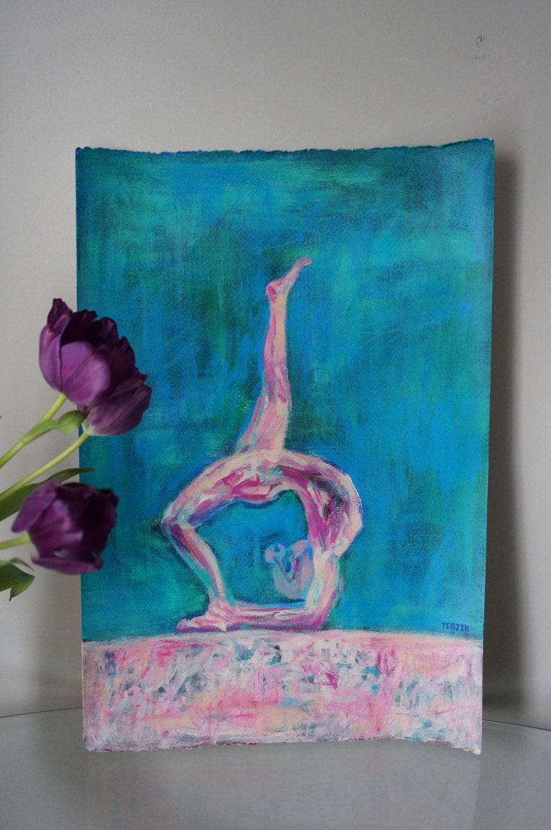 1a33b294a0 Gymnastics decor Abstract original handmade Acrylic painting